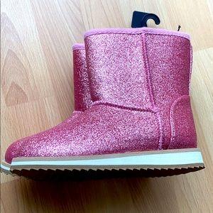 NWT Pink glitter Boots